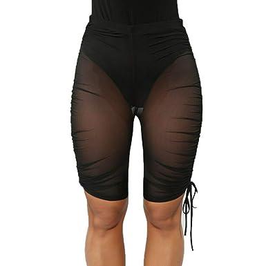 120731801964ac Multitrust Sexy Women See Through Mesh Fishnet Swimsuit Cover Up Shorts  Bikini Bottom Cover-up