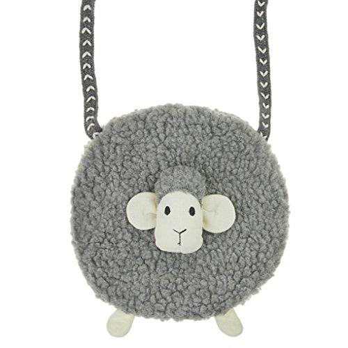 Kids Cute Sheep Shoulder Bag Girls Plush Cross Body Bag Messenger Backpack Small Wallet Coin Purse Baby Travel Phone Pouch Key Bag Satchel Snacks Bag