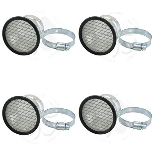 4x Velocity Stack 53.5mm 2 1/8 Universal Carb Air Horn Clamp On Mesh Filter Set