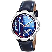 ZIERA ZR7095 Leather Strap Day and Date Boys Watch