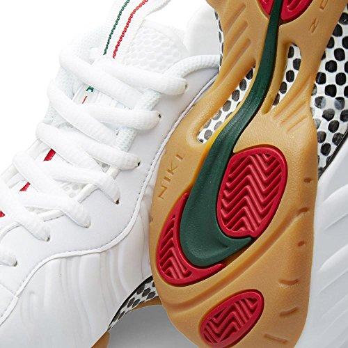 Nike Air Foamposite Pro Männer Basketballschuhe Weiß / Weiß-Gymnastik Red Gorge Green