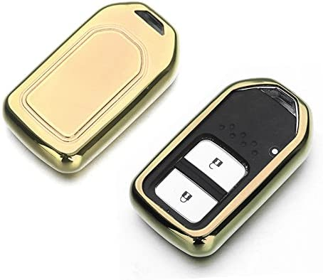 Atonix Silver TPU Glossy Metallic Smart Key Keyless Remote Entry Fob Case for Honda 2 3 4 5 Button