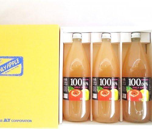 りんごジュース3本セット (サンふじ、サンジョナ、サン王林 各1本ずつ)