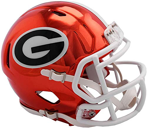 Sports Memorabilia Riddell Georgia Bulldogs Chrome Alternate Speed Mini Football Helmet - College Mini Helmets - Georgia Bulldogs Mini Football