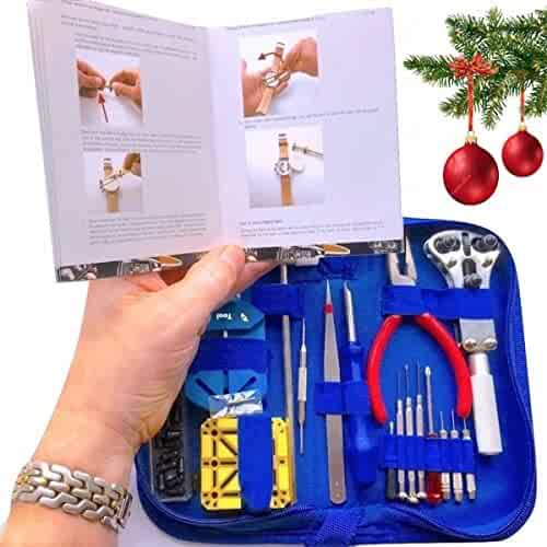 EZTool Watch Repair Tool Kit, XL Jaxa Wrench Plus 41-Page Watchmakers