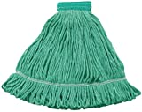 Wilen A01502, Hospital Pro M Antimicrobial Wet Mop, Medium, 5'' Mesh Band, Green (Case of 12)