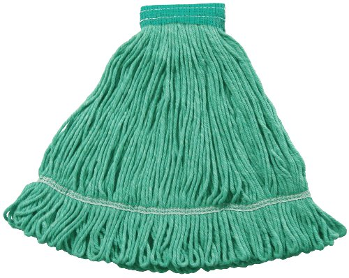 Wilen A01502, Hospital Pro M Antimicrobial Wet Mop, Medium, 5'' Mesh Band, Green (Case of 12) by Wilen Professional Cleaning Products