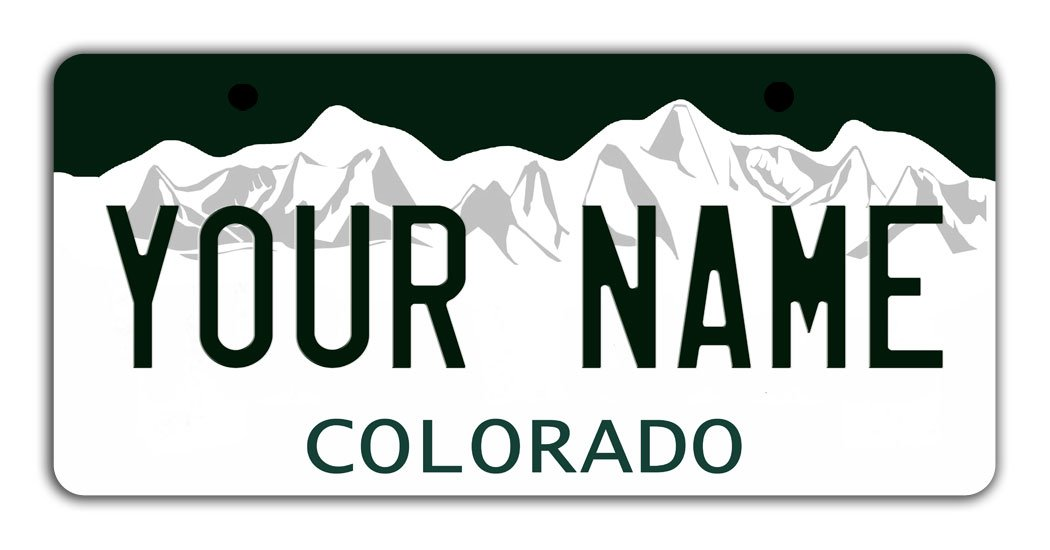 BleuReign Personalize Your Own Colorado State Bicycle Bike Stroller Children's Toy Car 3''x6'' License Plate Tag