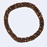Bronze and Gold Assorted Beads Handmade Beaded Bracelet