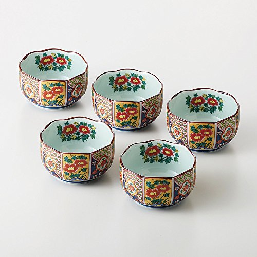 Imari Japanese Hasamiyaki Porcelain Kobachi Traditional Patterns (5 Set) 30005 From Japan