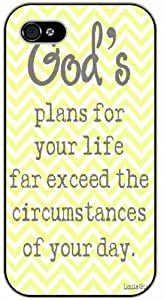 God's plan for your life far exceed the circumstances of your day - Bible verse iPhone 5 / 5s black plastic case / Christian Verses