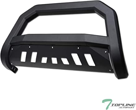 Tyger Black Bull Bar Bumper Brush Guard with Skid Plate Fits Expedition//F150//F250