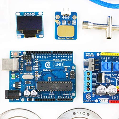 Adeept Arduino Compatible DIY 5-DOF Robotic Arm Kit for Arduino UNO R3 | STEAM Robot Arm Kit with Arduino and Processing Code | with PDF Tutorial via Download Link by Adeept (Image #4)