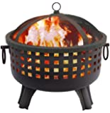 Landmann 26364 23-1/2-Inch Savannah Garden Light Fire Pit, Black