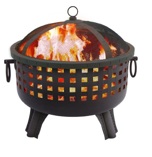 Landmann 26364 23-1/2-Inch Savannah Garden Light Fire Pit, Black (Patio Fireplace)