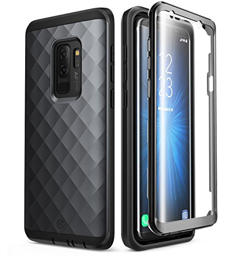 Samsung Galaxy S9+ Plus Case, Clayco [Hera Series] Full-Body Rugged Case with Built-in Screen Protector for Samsung Galaxy S9+ Plus (2018 Release) (Black)