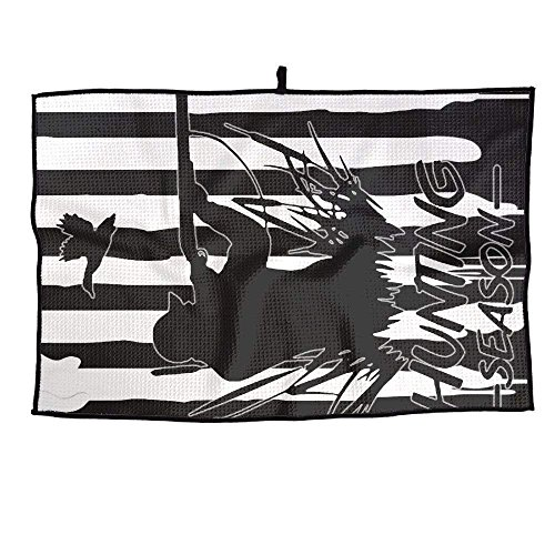 beefmates GUOFULIN Hunting Duck in Stripe Personalized Golf Towel Microfiber Sports (Super Stripe Waffle)