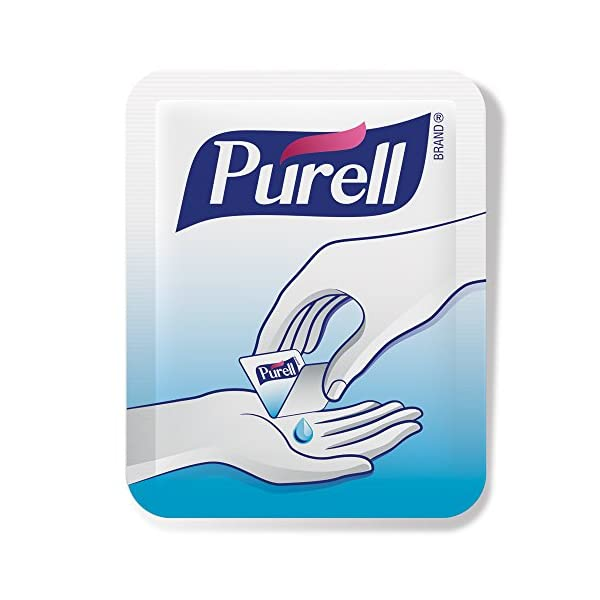 PURELL SINGLES Advanced Hand Sanitizer Gel   125 Count Single Use Packets With Display Box   9620 12 125EC