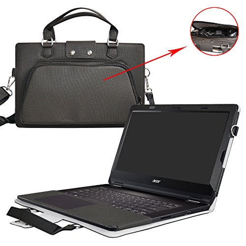 Inspiron 13 2-in-1 i5379 i5378 i5368 Case,2 in 1 Accurately Designed Protective PU Leather Cover + Portable Carrying Bag For 13.3