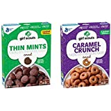 Girl Scouts Cereal 11oz. - Thin Mints And Caramel Crunch - Limited Edition ( 1 box ea.)