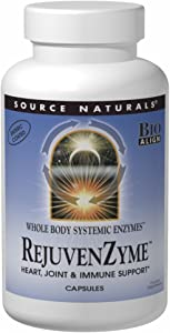 Source Naturals RejuvenZyme - For Heart, Joint & Immune Support - 180 Capsules