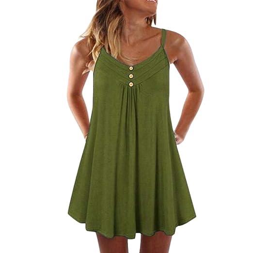 d977d4da48 Amazon.com: Caopixx Women Summer Sleeveless Spaghetti Strap T-Shirt ...