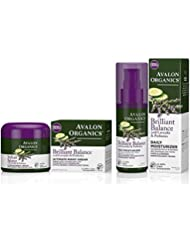 Avalon Organics Brilliant Balance Daily Moisturizer Bundled with Ultimate Night Cream, 2 Ounce Each