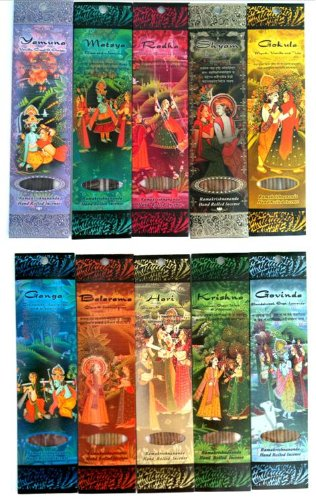 Ramakrishnananda Hand Rolled Incense 10 Assorted Scents