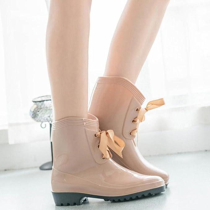 Y&JAXIE Lady Tube Regen Stiefel / Fliege Regen Stiefel / Wasser Schuhe Wasser Schuhe Sätze von Schuhen , 3 , 35
