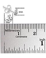 Sterling Silver Bunny Rabbit Stud Earrings - SIZE: 5mm 5133.