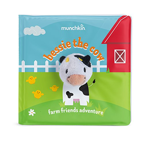 Munchkin Soapy Stories Finger Puppet Bath Book, Farm