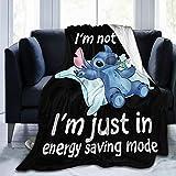 Sadie Mae Cartoon Fuzzy Flannel Durable Throw
