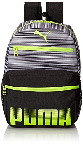 PUMA Little Boy's Puma Meridian Jr. Kids Backpack Accessory, gray/yellow, Youth
