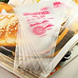 LQZ(TM) Thickened 100Pcs Plastic Disposable Icing Piping Pastry Bag (S 17*25cm)