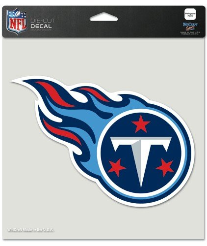 Tennessee Titans Vinyl (NFL Tennessee Titans Die-Cut Color Decal, 8