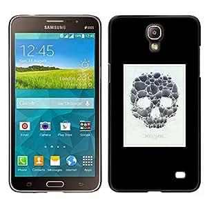 // PHONE CASE GIFT // Duro Estuche protector PC Cáscara Plástico Carcasa Funda Hard Protective Case for Samsung Galaxy Mega 2 / Skull Poster Minimalist White Black /