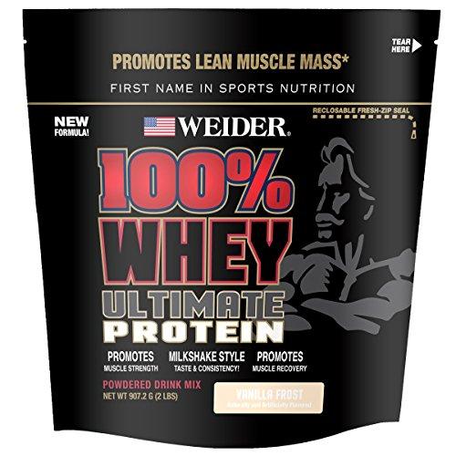 (Weider 100% Whey Ultimate Powder, Vanilla Frost, 2.0 Pound)