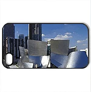 Architectural designs - Case Cover for iPhone 4 and 4s (Amusement Parks Series, Watercolor style, Black)