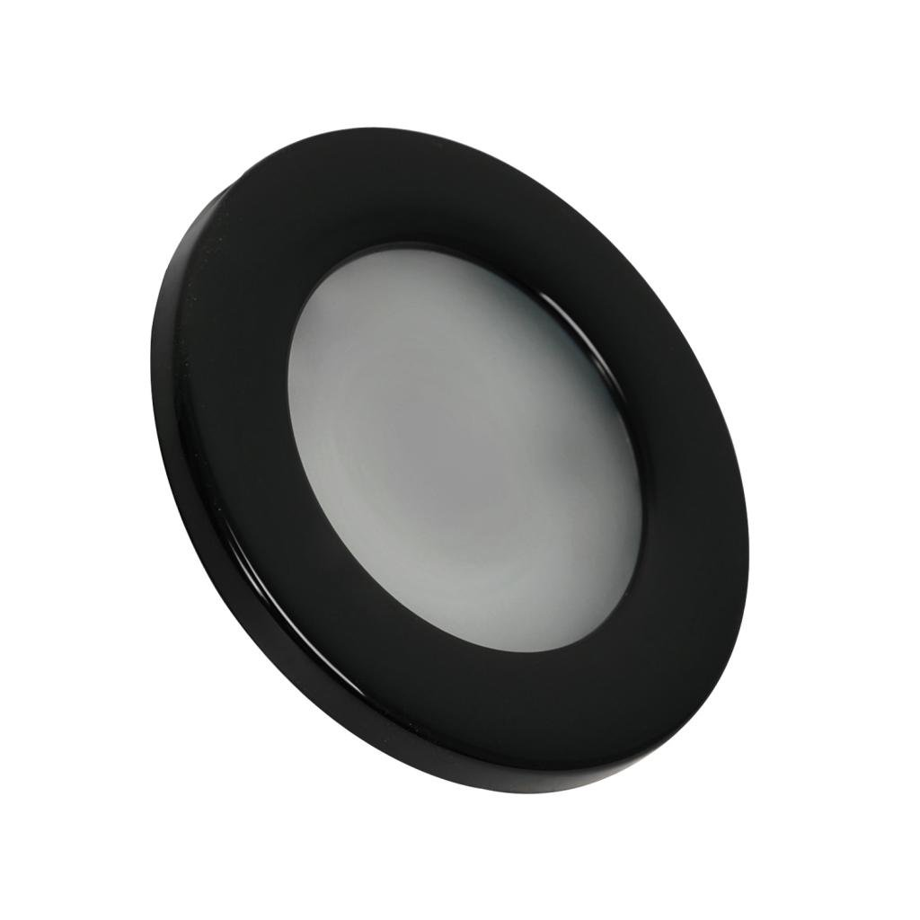 Dream Lighting 2W LED Recessed Down Light Warm White Black Shell Pack of 2