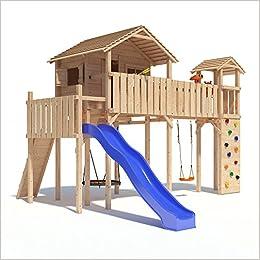 Gut bekannt PONTICULUS XXL-Spielturm Baumhaus mit Rutsche, Schaukel RK36