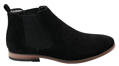 a0af67f13 Mens Italian Suede Slip On Ankle Boots Smart Casual Desert Chelsea Dealer