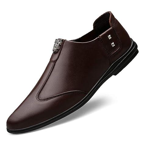 GPF-fei Zapato de Hombre Mocasines de Cuero Zapatos de ...