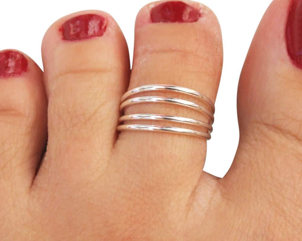 Hammered Sterling Silver Toe Ring Adjustable Toe Ring Silver Toe Ring