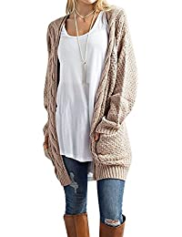 Women's Boho Long Sleeve Open Front Chunky Warm Cardigans...
