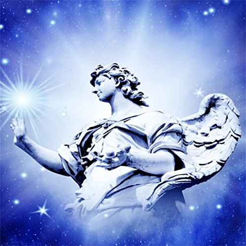 Angelic Star - CSFOTO 4x4ft Background For Angel Touching The Stars Angelic Photography Backdrop Mystical Belief Faith Holy Statue Universe Freedom Photo Studio Props Kid Children Portrait Vinyl Wallpaper