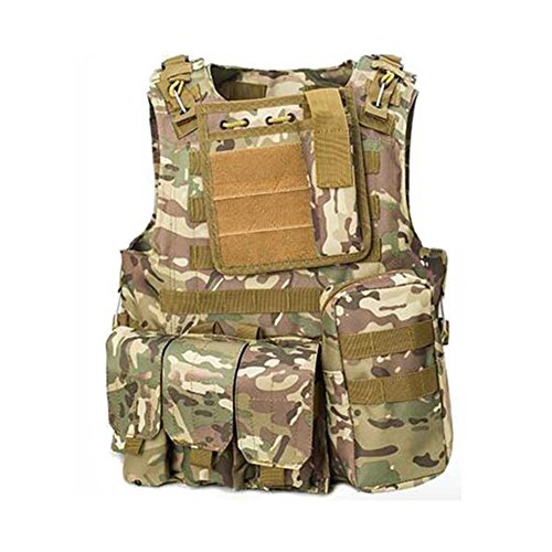 ATAIRSOFT Molle Airsoft Tactical Paintball Vest Multicam MC by ATAIRSOFT