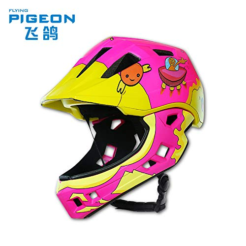 [セルフ]ヘルメット取り外し可能なフルヘルメットハーフヘルメットスケートボードのかわいい漫画の車のバランスに乗っFeigeの子どもたち   B07S3KCCK7