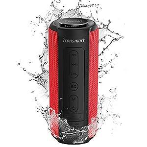 Tronsmart T6 Plus Enceinte Bluetooth 40W, Haut Parleur Portable d'extérieur avec Powerbank, 15 Heures Playtime, étanche IPX6, TWS Stéréo et Basse Puissantes, Speaker Bluetooth 5.0, Mains Libres, Rouge 4