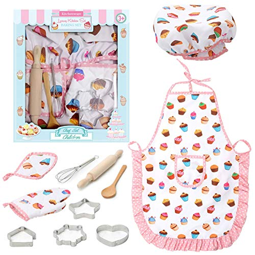 Kids chef role play costume set
