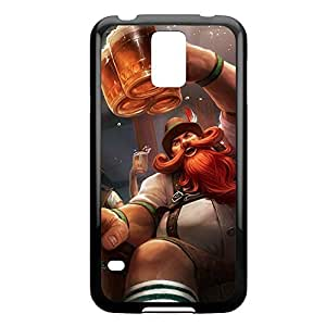 Gragas-005 League of Legends LoLDiy For SamSung Note 4 Case Cover Plastic Black